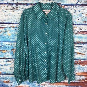 Foxcroft green long sleeve top
